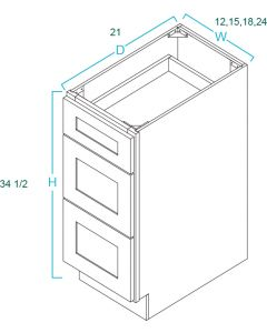 Drawer Base Vanities-Shaker White